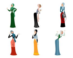 Six different arab women