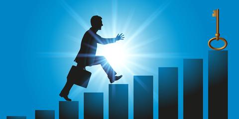 solution - réussite - succès - clé - carrière - entreprise - ambition - concept