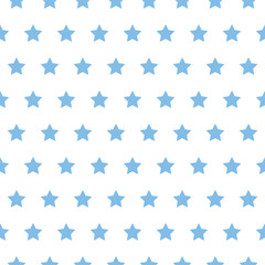 baby star pattern blue on white
