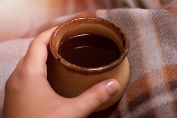 плед и чай