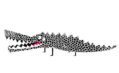 Funny cartoon crocodile