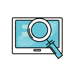 screen technology with information and magnifying glass