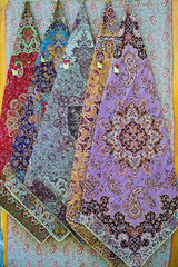Ladies Scarfs on sell near Blue mosque Isphahan, Iran