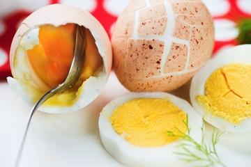 Hard boiled eggs.