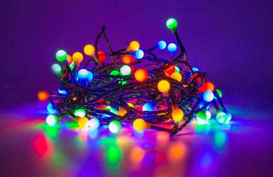 led fairy lights in different colors