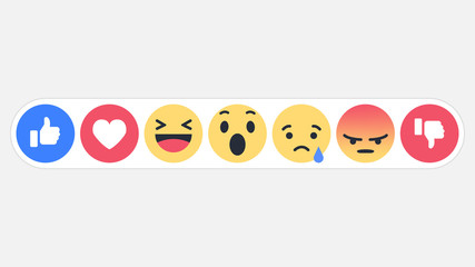 Emoji social network reactions icon, vector illustration