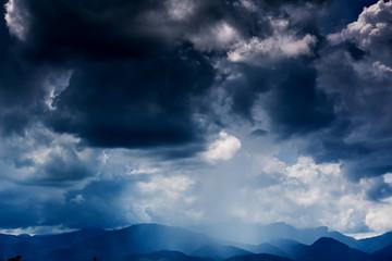 Black clouds. Rain Clouds on the sky