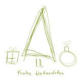 christbaum tannenbaum weihnachtsbaum symbole skizze. Black Bedroom Furniture Sets. Home Design Ideas