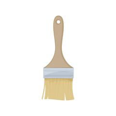 Paint brush on white background, cartoon illustration of repair tool. Vector