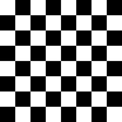 Image of a sixty-four chess board for playing chess, checkers, etc., vector