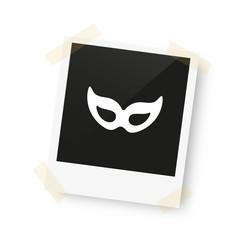 eingeklebtes Foto - Maske