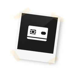eingeklebtes Foto - Kreditkarte
