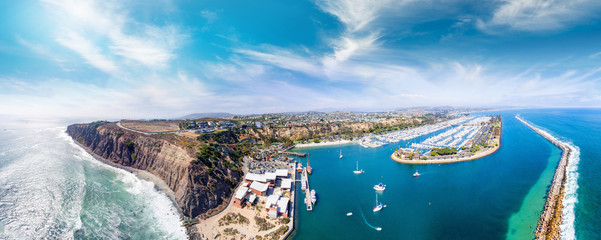 Dana Point, California. Aerial view of beautiful coastline Wall mural