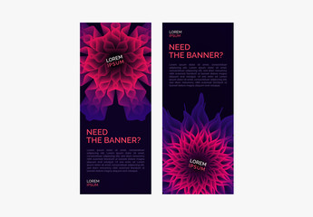 Colorful Web Banner Set with Pink and Purple Accents