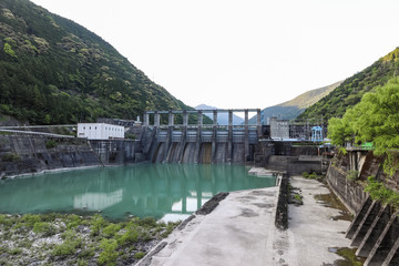 Photo sur Toile Barrage Akiba Dam (秋葉ダム) in Shizuoka, Japan.