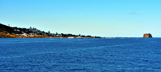 island of Stromboli archipelago Aeolian Sicily Italy