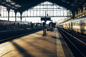 Interior of Gare de Lyon train station, Paris, France