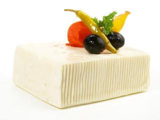 Feta Käse mit einlegtem Gemüse