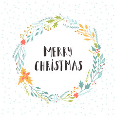 Cute gift cards and hand drawn Christmas lettering