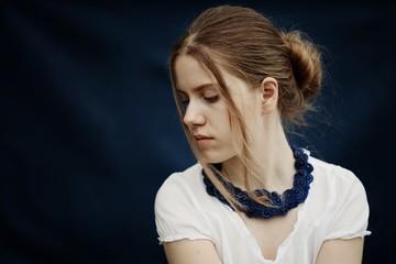 Indigo (Girl with blue necklace)