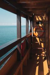 Life Buoy On A Sailboat