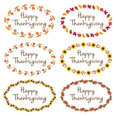 Thanksgiving graphics with oval frames