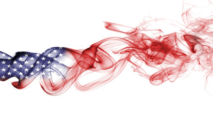 America, usa, national smoke flag