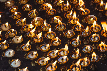 Butter lamp in Swayambhunath,monkey temple,Nepal