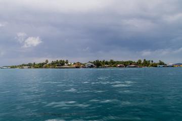 View of Isla Crenero, part of Bocas del Toro archipelago, Panama