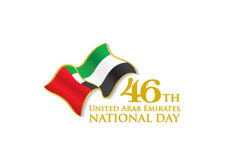 Procurar fotos 1971 uae 46th national day logo with waving flag vector typographic emblems badge with white stopboris Choice Image