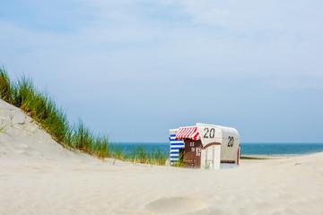 Strand, Dünen un Meer