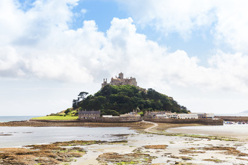 Ancient St Michael's Mount castle in Cornwall England UK