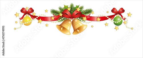 weihnachtsgirlande mit glocken perlen tannenbaumkugeln. Black Bedroom Furniture Sets. Home Design Ideas