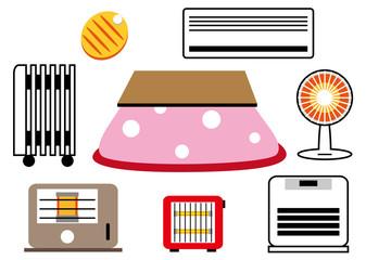 暖房機器 イラストセット
