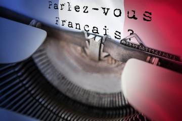 Composite image of parlez vous francais