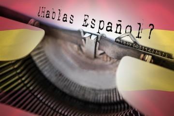 Composite image of hablas espanol