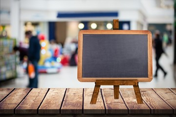 Composite image of image of a blackboard
