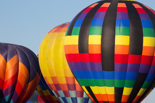 hot air balloons closeup