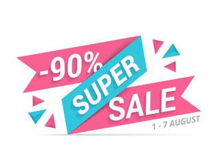 Papier Peint - Super Sale Banner