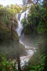 Path of Dat Taw Anisakan falls, waterfall at Pyin Oo Lwin,Mandalay state Myanmar