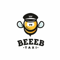 Modern vector professional sign logo bee taxi