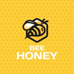 Modern vector professional sign logo bee honey