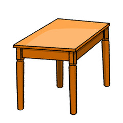 Illustration of Table -Vector Illustration