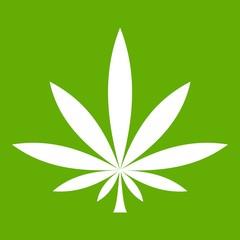 Cannabis leaf icon green