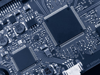 electronical device: motherboard and microchips