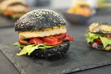 Burger schwarz, Essen, Trend, neu