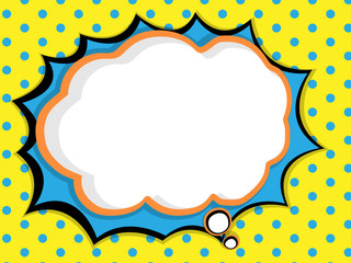 abstract blank speech bubble comic book, pop art style background