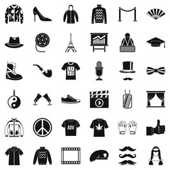 Image icons set, simple style