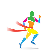 colorful men's sprint running flat
