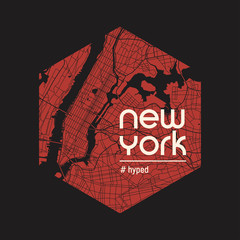 New York hyped t-shirt and apparel vector design, print, typography, poster, emblem.